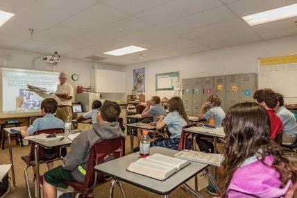 The-Christian-Academy-At-Bradenton,-Classroom-with-Mr.-Smiley