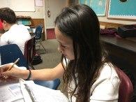 The-Christian-Academy-At-Bradenton,-Rose-doing-school-work