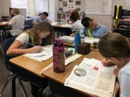 The-Christian-Academy-At-Bradenton,-Several-Students-Working-at-Desks