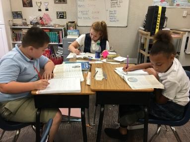 The Christian Academy At Bradenton, Three Students Working at Desks